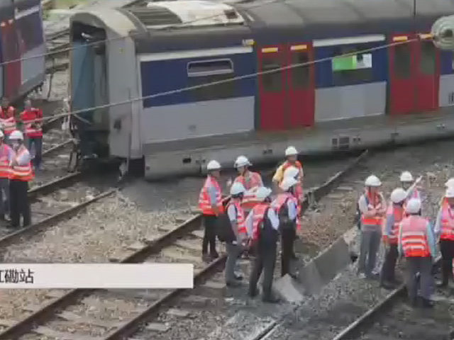 Hong Kong metro train derails during rush hour, disrupting service on 2 lines