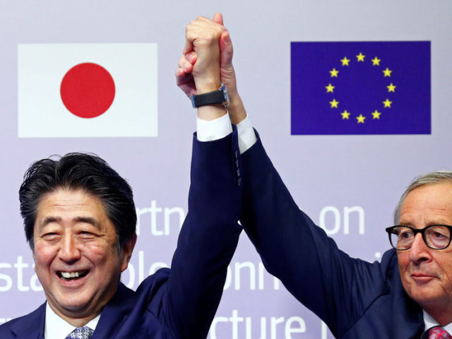 EU & Japan strike 'connectivity' deal to link Asia & to counter China's new Silk Road
