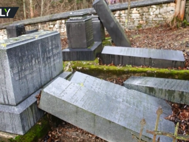'Hatred must be really strong to insult the dead': 2nd Jewish cemetery vandalized in a month in Slovakia (VIDEO)