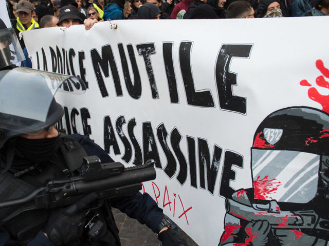 WATCH French riot police knock down elderly woman… during rally for 80yo who died after getting hit by tear gas grenade