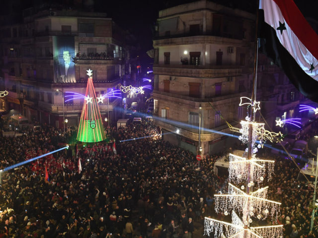 Fireworks instead of mortar shells: Syrian Christians flood the streets in spiritual unity of Christmas celebrations (PHOTOS)