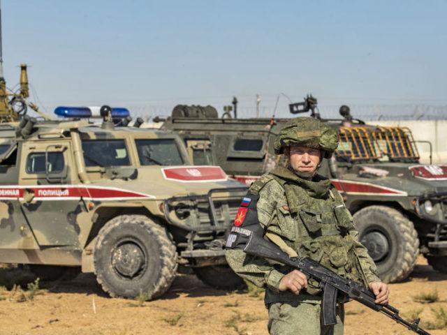 Russian Military Police on Patrol in Syria's Aleppo, Raqqa Provinces