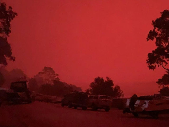 'Utterly surreal': Thousands trapped on Australian beach by massive fire, turning skies RED & raining embers (PHOTOS, VIDEO)