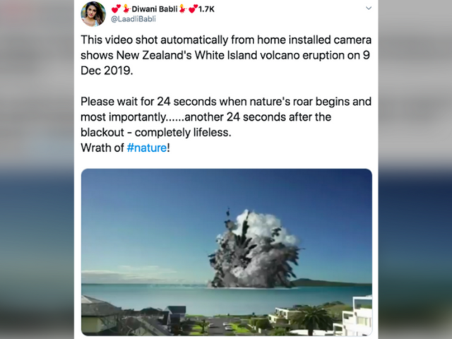Viral VIDEO 'showing White Island eruption' draws over 100k views…but is totally fake