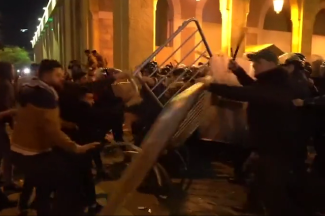 WATCH dozens injured in street battles between protestors and police on the streets of Beirut