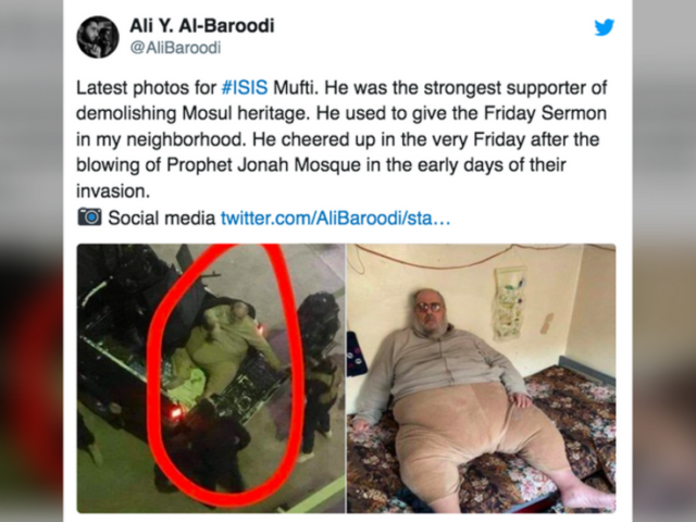 Iraqis capture ISIS mufti so obese a TRUCK has to take him into custody, sparking slew of Twitter memes