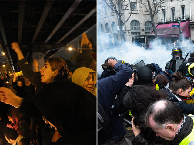 'Don't look there, look here!' UK media much more excited about Iran protests than those in neighboring France