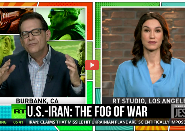Jimmy Dore: 'The US set off a powder keg in Iran that it won't be able to stop.'