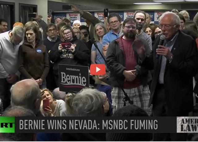 MSNBC meltdown over Bernie's NV victory