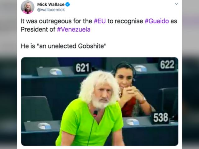 Irish MEP calls Venezuela's Juan Guaido a 'gobshite' in EU parliament, gets swiftly reprimanded (VIDEO)