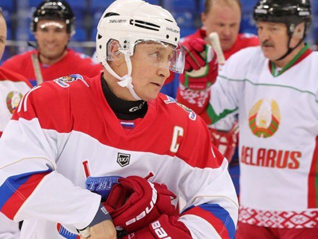 Watch Russian President Putin and His Belarusian Counterpart Lukashenko Play Hockey