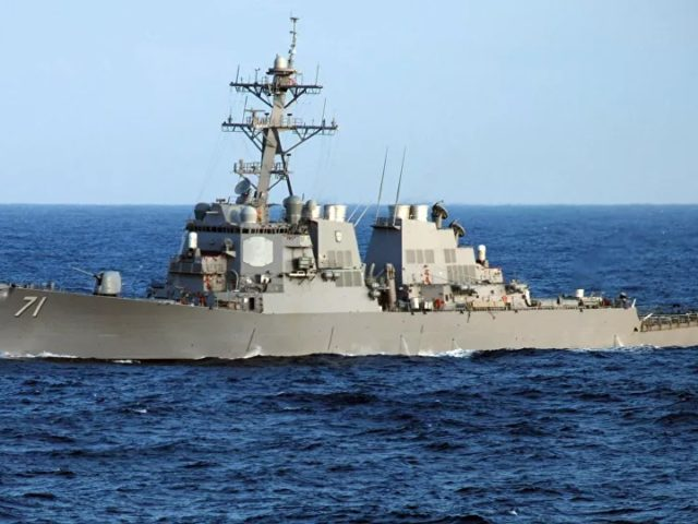 Russian Navy Monitoring USS Ross Destroyer in Black Sea