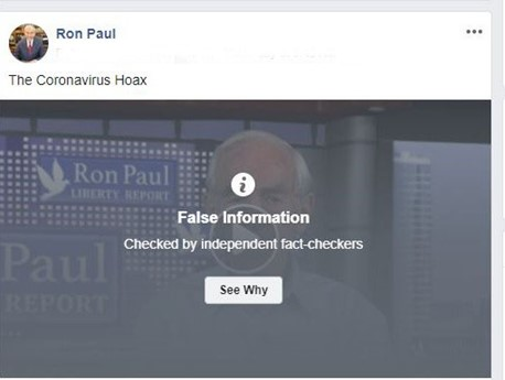 Facebook Censoring Ron Paul Based on Bogus Politifact 'Fact-Check'