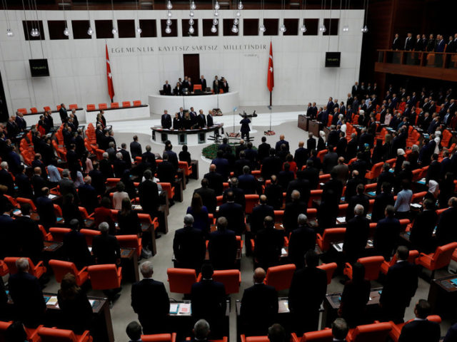 WATCH: Fistfight breaks out in Turkish parliament after lawmaker lashes out at Erdogan over Idlib soldier deaths
