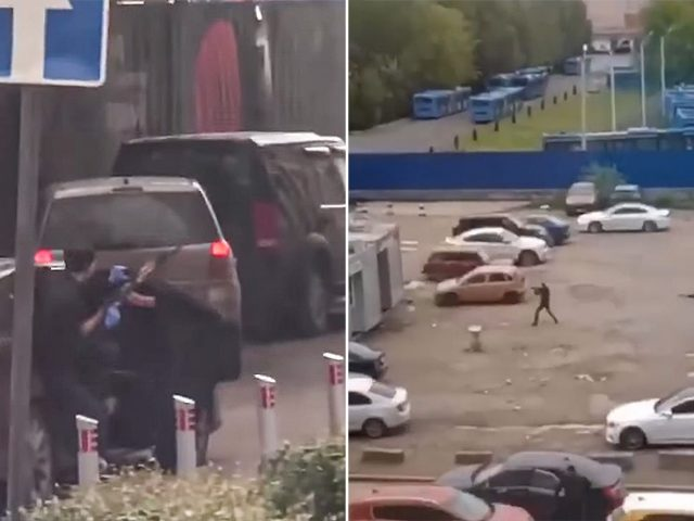 Manhunt in Moscow after GUN BATTLE with KALASHNIKOV rifles & pistols erupts in broad daylight (VIDEOS)