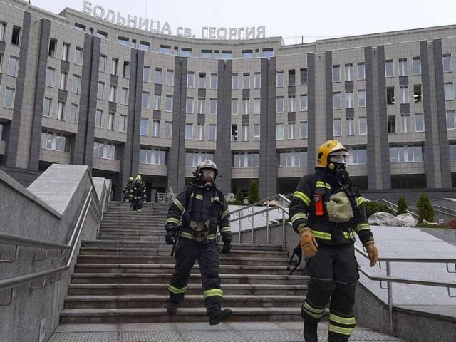 Fire erupts at Saint Petersburg Covid-19 hospital after ventilator malfunctions, 5 dead