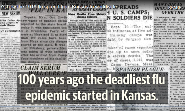 How a killer flu spread from western Kansas to the world