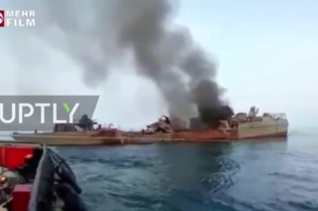 VIDEO shows damaged Iranian naval ship involved in training incident that left 19 dead & 15 injured