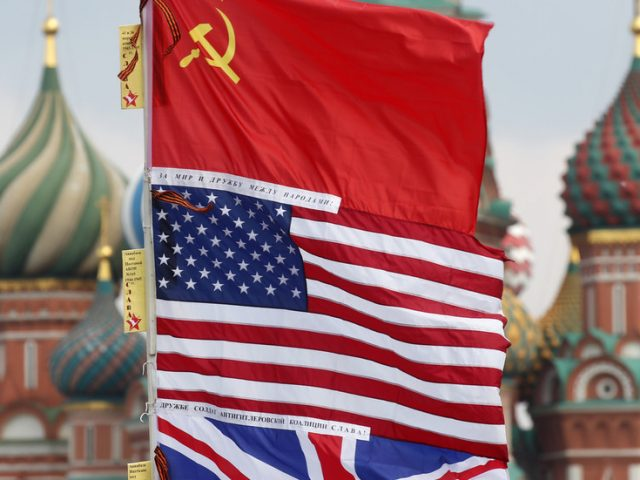 Moscow promises Washington a 'SERIOUS TALK' about its V-Day message that omits Soviet Union's role in defeating Nazis
