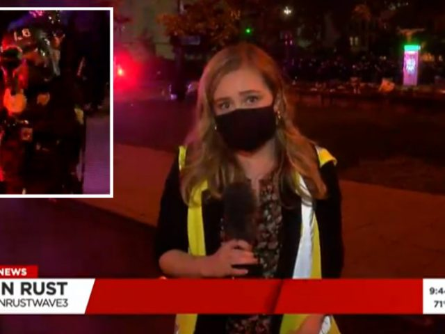 'I'm getting shot': Police fire pepper balls at TV REPORTER & crew during Louisville protests (VIDEO)