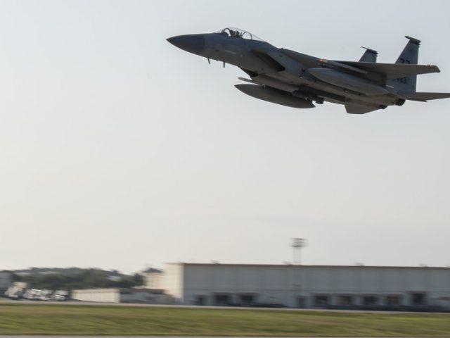 Dozens treated for CHLORINE exposure as massive fire engulfs hazmat storage at US Okinawa base in Japan