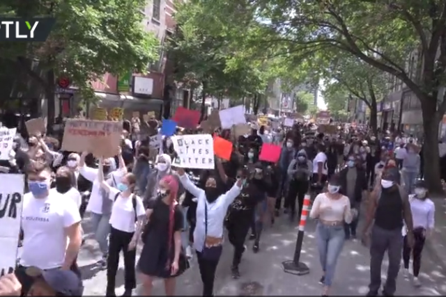 WATCH: Canadian police teargas anti-racism protesters who refused to go home