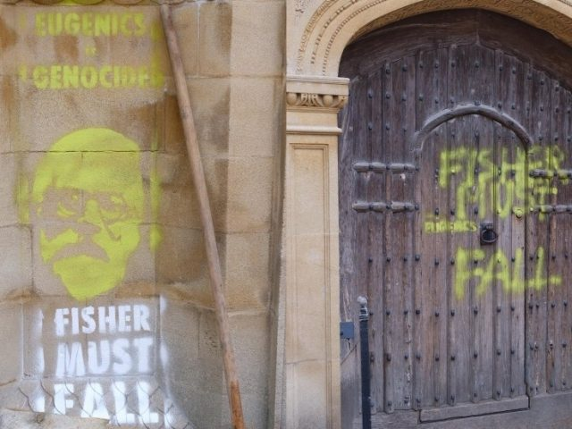 Extinction Rebellion spray graffiti on Cambridge Uni building, demand removal of memorial to 'racist' academic (PHOTOS)
