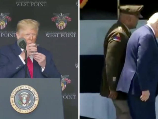 'Parkinson's? Dementia? Stroke?' Trump's 'weird' West Point appearance turns Twitter sleuths into medical experts