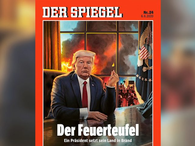 German magazine declares Trump's the DEVIL to be blamed for all that ails America. But he's not the illness, just a symptom of it