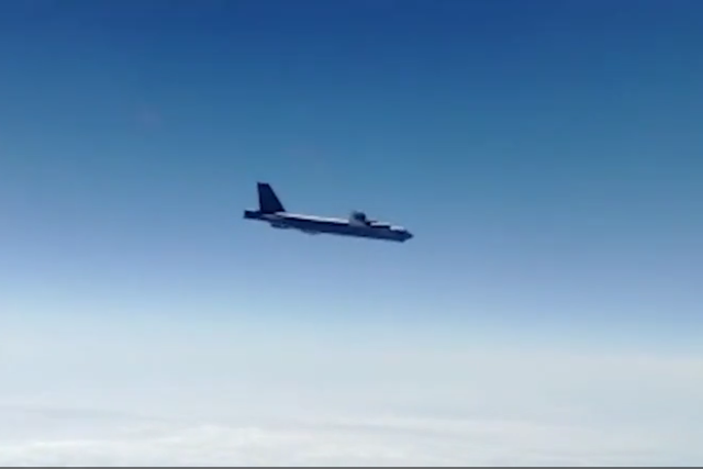 WATCH: Russian fighter jets escort pair of US B-52H Air Force strategic bombers in Far East