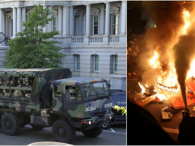 Roll in the tanks? WATCH National Guard hit streets in DC amid reports Trump considering more active-duty troops to quell unrest