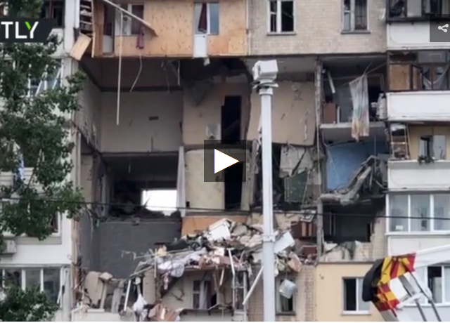 Kiev blast that devastated residential building may have been caused by gas leak or BOMB – minister