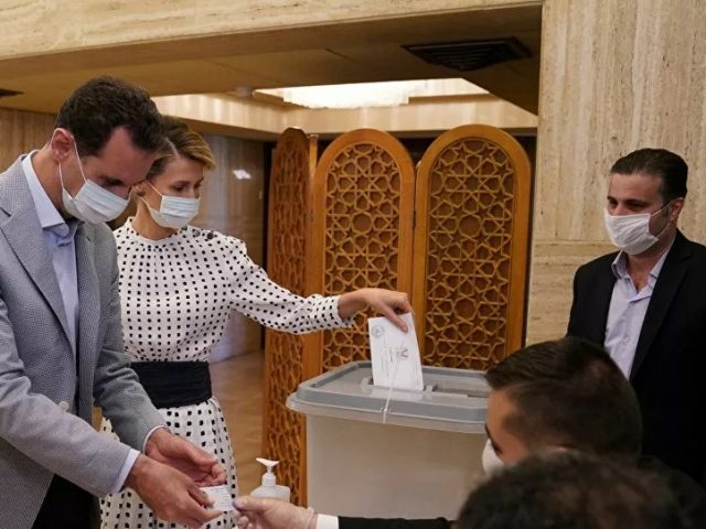 Syrian President, First Lady Cast Ballots in Legislative Elections