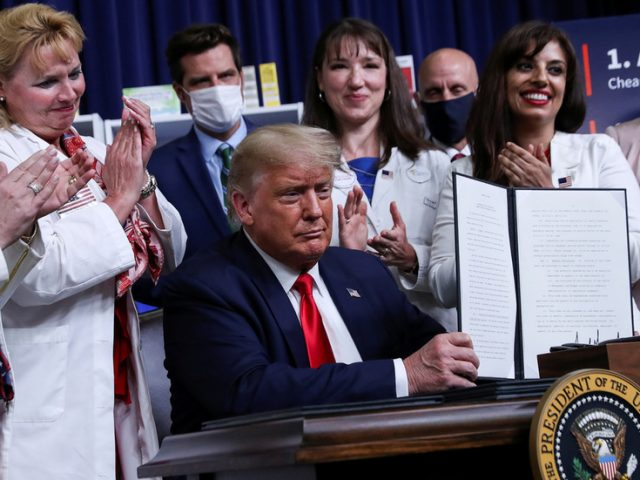 Trump signs executive orders promising 'MASSIVE' slash in prescription drug prices