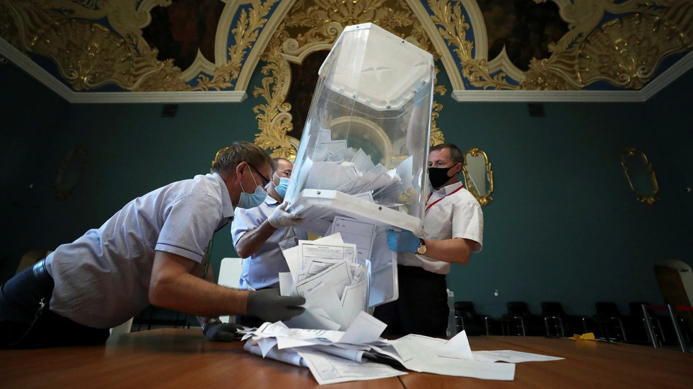 Exit polls after the Russian constitutional