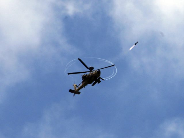 2 injured in IDF helicopter strikes on Syrian military targets