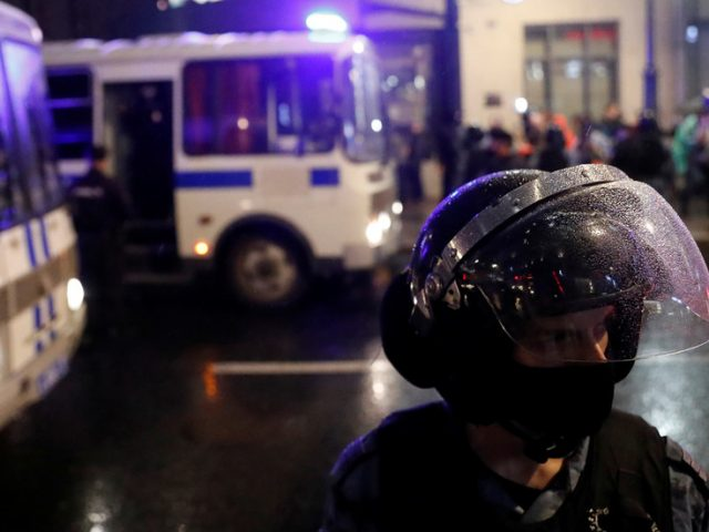Dozens detained in Moscow during unauthorized protest against recently approved constitutional amendments