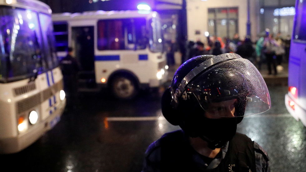 Moscow police detained
