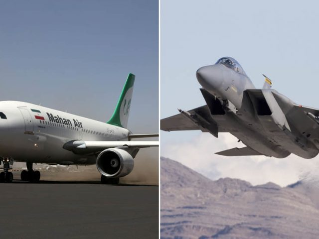 'Air terrorism': Iran rages at US F-15s shadowing its commercial aircraft over Syria