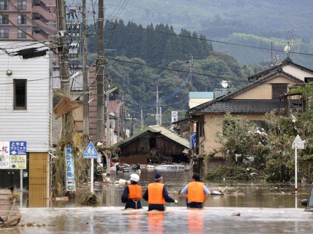 14 people feared dead at flooded nursing home as unprecedented rain wreaks havoc in southern Japan