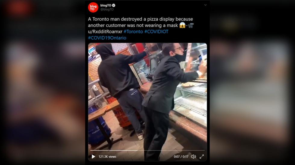 A video showing a Toronto man