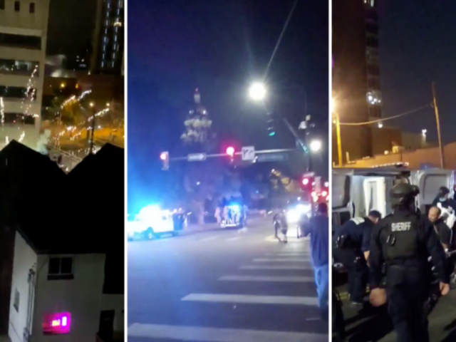WATCH 'Give 'Em Hell' protesters smash windows & set fires across Denver, try to breach Colorado State Capitol fence