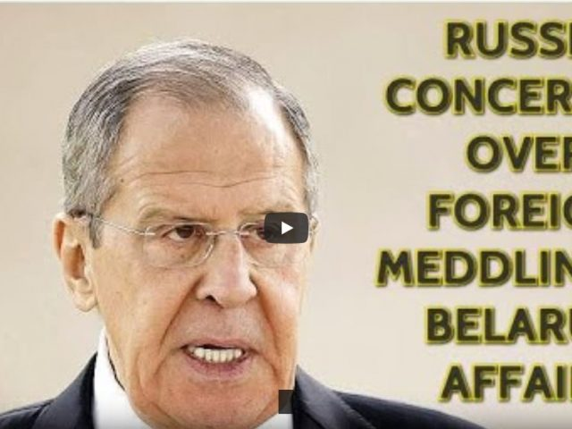BREAKING! Lavrov Explains What Is Actually Hapenning In Belarus: It Is All About Geopolitics!