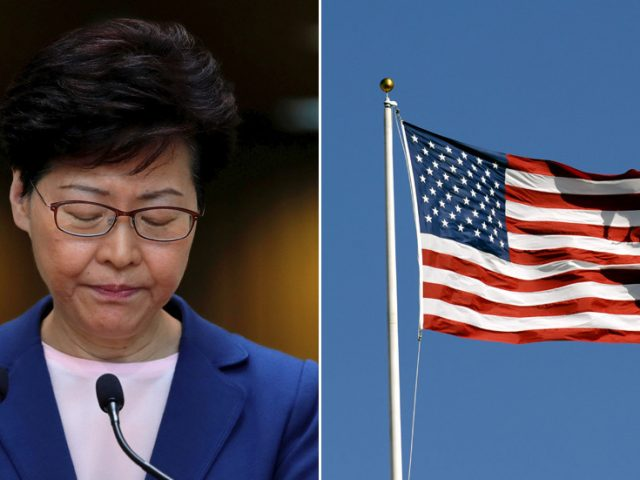 US imposes sanctions on Hong Kong's chief executive among other Chinese officials