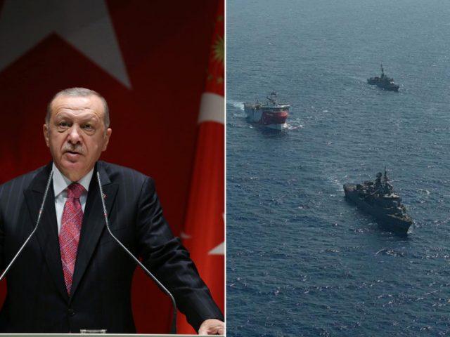 'We won't allow banditry on our continental shelf': Erdogan says Turkey won't back down amid Mediterranean standoff