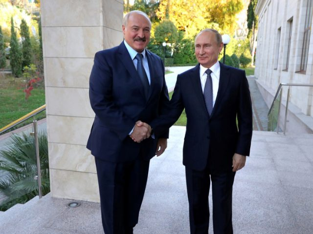 Putin congratulates Lukashenko after incumbent named winner of presidential vote in Belarus for 6th time