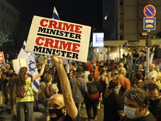 Video: Demonstration Against Israeli PM Netanyahu in Jerusalem