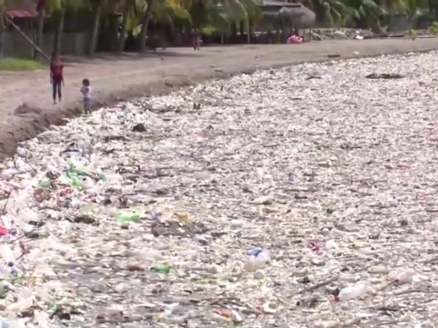 100+ tons of garbage washed up on idyllic Caribbean beach in Honduras after anti-waste barrier failure in Guatemala (VIDEOS)