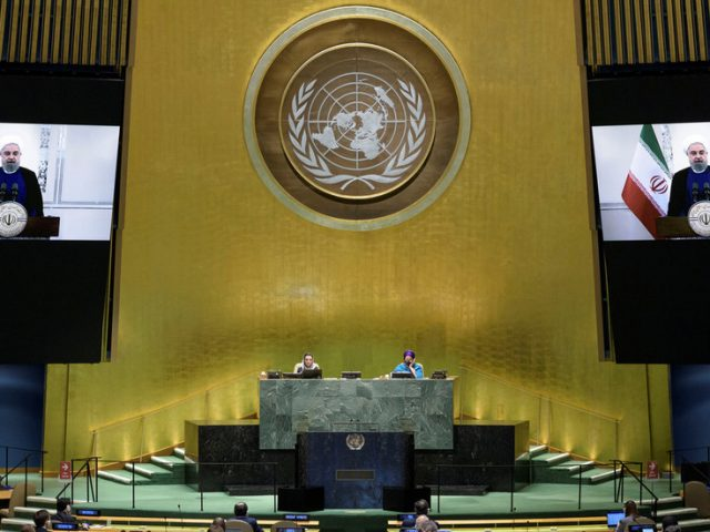 'US can impose neither negotiations nor war' on Iran, Rouhani tells UN General Assembly