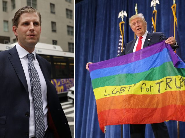 Wait, what? Eric Trump says he is 'part of the LGBT community,' sowing confusion online